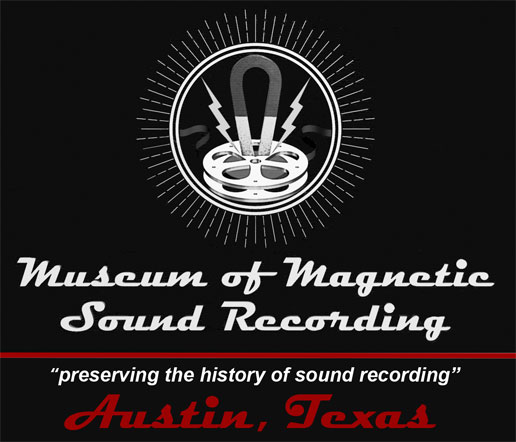 The logo of the Museum of magnetic Sound Recording