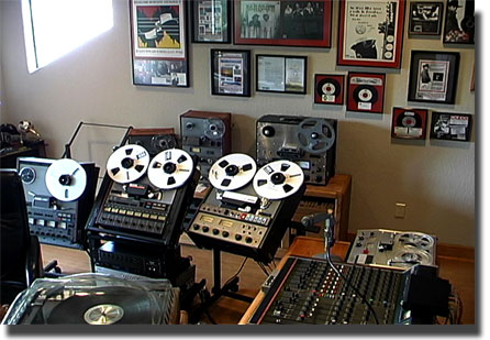 Teac Tascam 80-8 professional 8 track reel to reel tape recorder in the Phantom Productions' studio and in the Reel2ReelTexas.com's vintage reel tape recorder recording collection