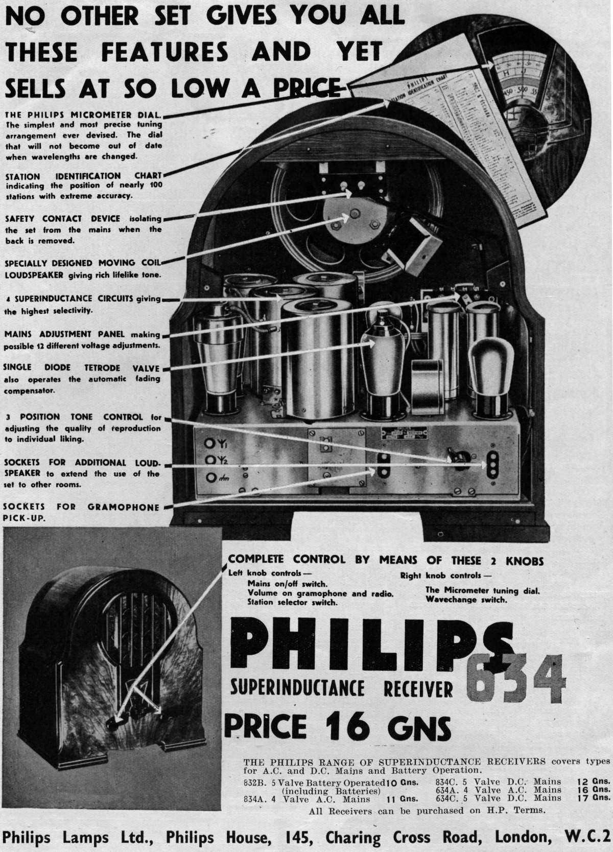1933 Philips ad in the Reel2ReelTexas.com vintage reel tape recorder recording collection
