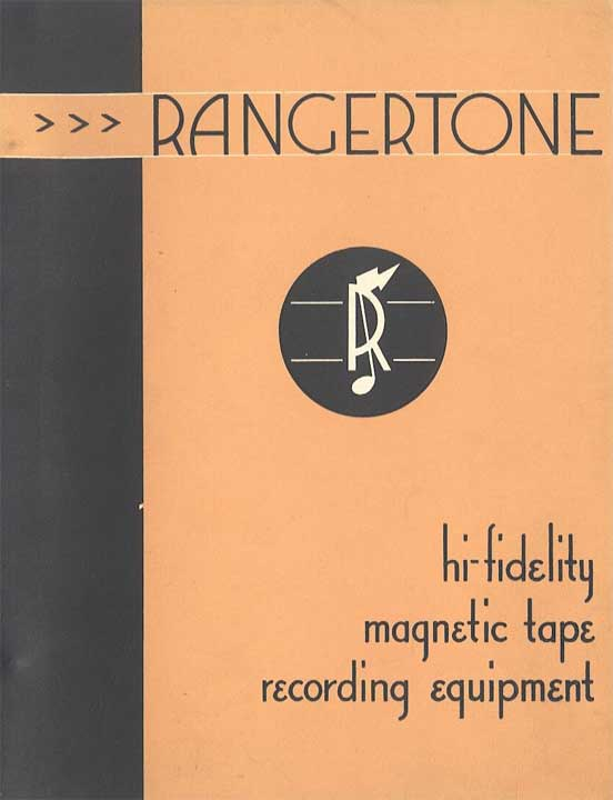 1948 Rangertone brochure in the MOMSR/Reel2ReelTexas/Theophilus vintage tape recorder collection