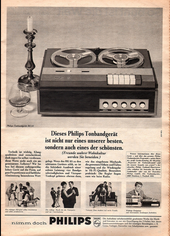 Philips ad in the Reel2ReelTexas.com vintage reel tape recorder recording collection
