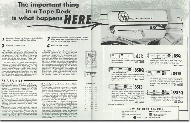 1958 ad for Viking reel to reel tape recorders in the Reel2ReelTexas.com vintage recording collection