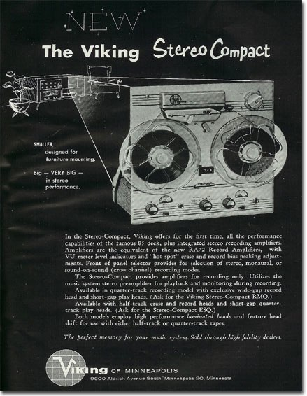 1960 ad for Viking reel to reel tape recorders in the Reel2ReelTexas.com vintage recording collection