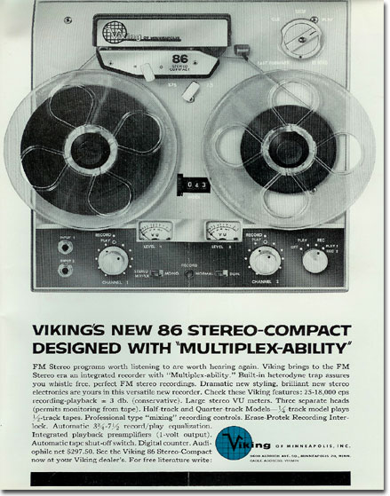 1961 ad for Viking reel to reel tape recorders in the Reel2ReelTexas.com vintage recording collection