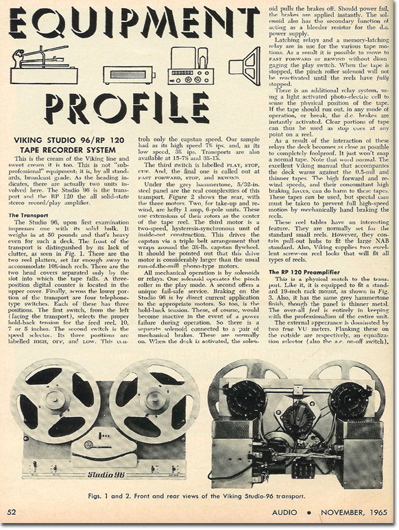 1965 ad for Viking reel to reel tape recorders in the Reel2ReelTexas.com vintage recording collection