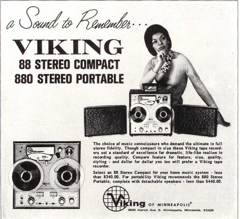 1966 ad for Viking reel to reel tape recorders in the Reel2ReelTexas.com vintage recording collection