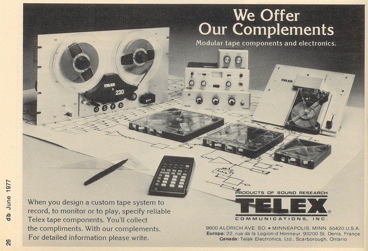 1976 ad for Telex Viking reel to reel tape recorders in the Reel2ReelTexas.com vintage recording collection