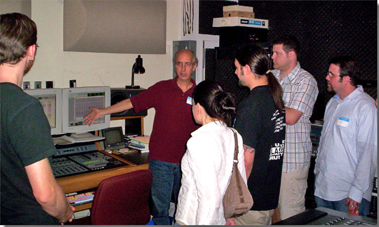 Austin City Limits at the University of Texas  Communications Building 2005 - David Hough providing tour to the Central Texas audio Engineering Chapter