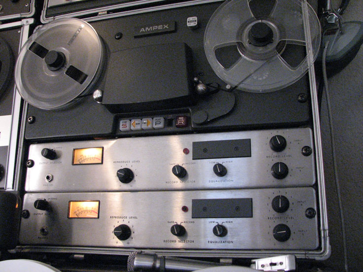 Ampex AG500 professional reel to reel tape recorder in the Reel2ReelTexas.com vintage reel tape recorder recording collection