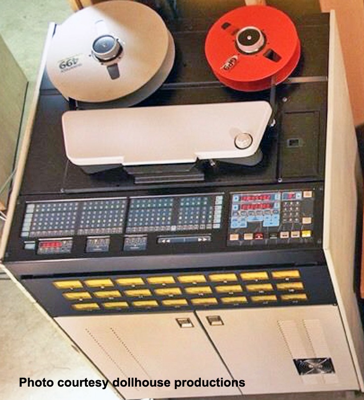 photo of Ampex ATR-124 courtesy dollhgouse productionsreel to reel tape recorder ad in the Museum of Magnetic Sound Recording