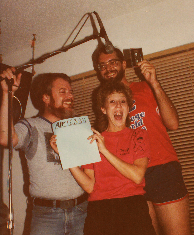 Bruce Newlin, Libby Lee & Martin 1984 Air Texas edit session