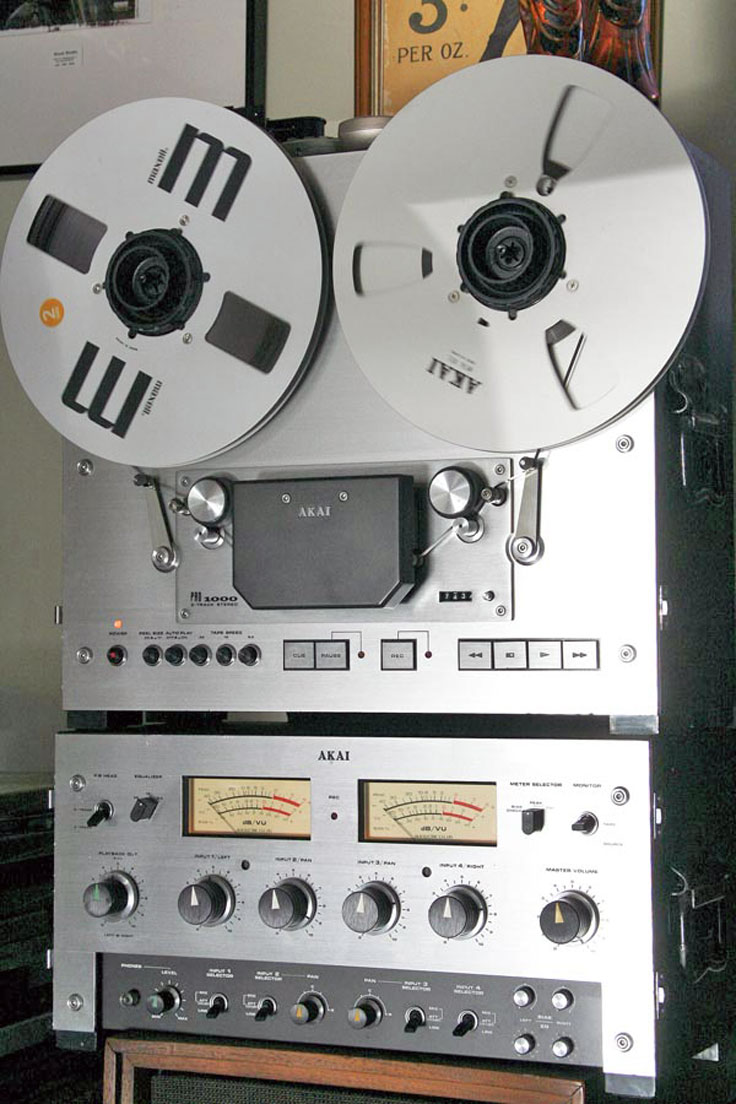 Akai reel to reel tape recorder photo in the Reel2ReelTexas.com vintage recording collection