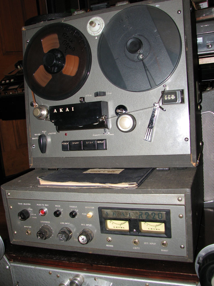 AkaiStereoTerecorder in Phantom Productions' vintage reel tape recorder collection