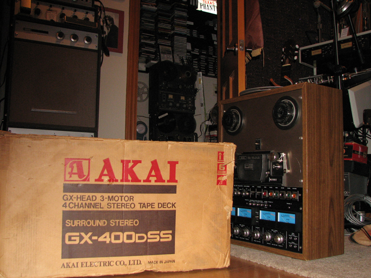 Akai GX-400D-SS reel to reel tape recorder in the Reel2ReelTexas.com vintage recording collection
