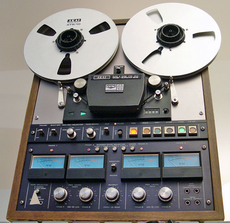 Akai reel to reel tape recorder photo in the Reel2ReelTexas.com vintage reel tape recorder recording collection