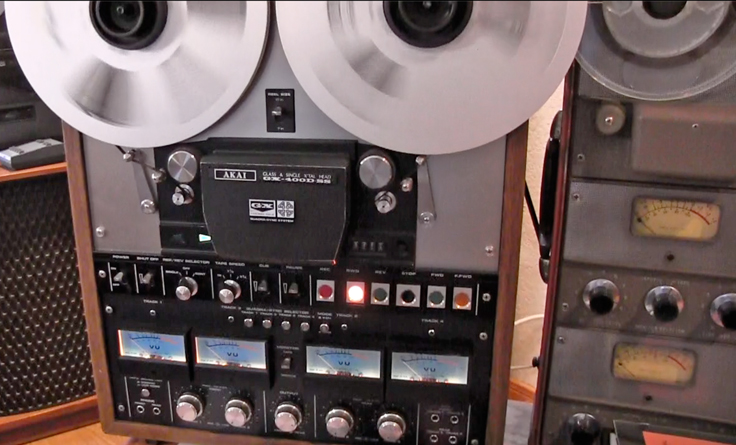 Akai GX-400D-SS reel to reel tape recorder in the Reel2ReelTexas.com vintage reel tape recorder recording collection