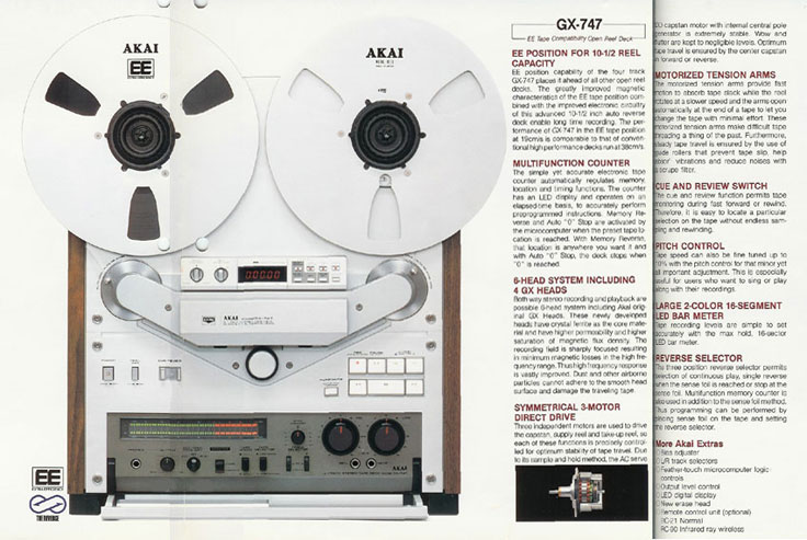 1982 Akai GX-747 reel to reel tape recorder ad in the Reel2ReelTexas.com vintage recording collection
