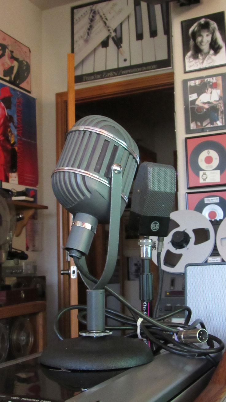 Altec 639A microphone in the Reel2ReelTexas.com / Museum of Magnetic Sound Recording vintage microphone and recording equipment collection