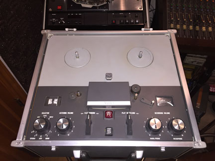 Ampex 1260 Reel to reel tape recorder and  Manual Donated By Bert Tenkate