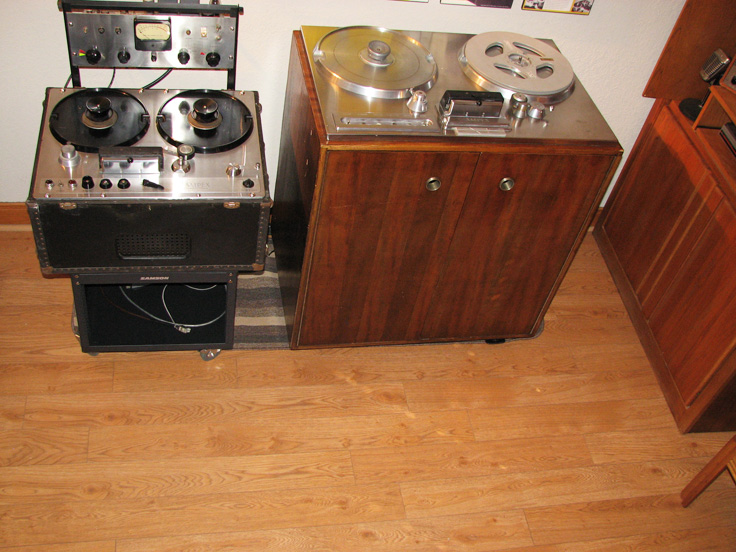 Phantom Productions, Inc.'s Ampex 200-A and Ampex 300 on display at the Phantom studio
