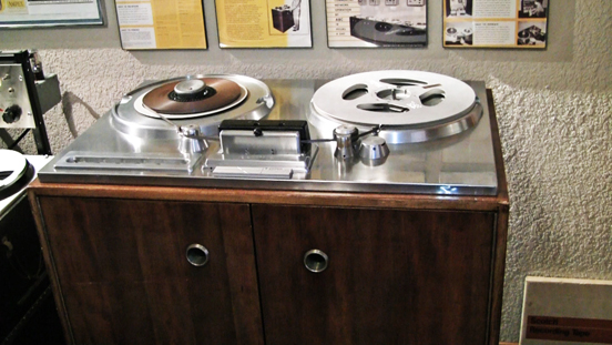 Ampex 200A built in 1947 is one of America's first professional reel to reel tape recorders.  This is #33 which belonged to Capitol Records and is now at the Museum for Magnetic Sound Recording