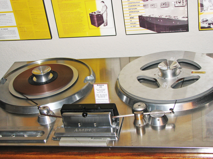 Reel2ReelTexas.com's Ampex 200-A professional reel to reel tape recorder on display at the Phantom studio