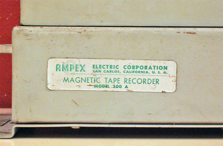 Ampex 200A professional reel to reel tape recorder Relay Unit photos were donated to the Museum by Michael Nezis of Athens Greece