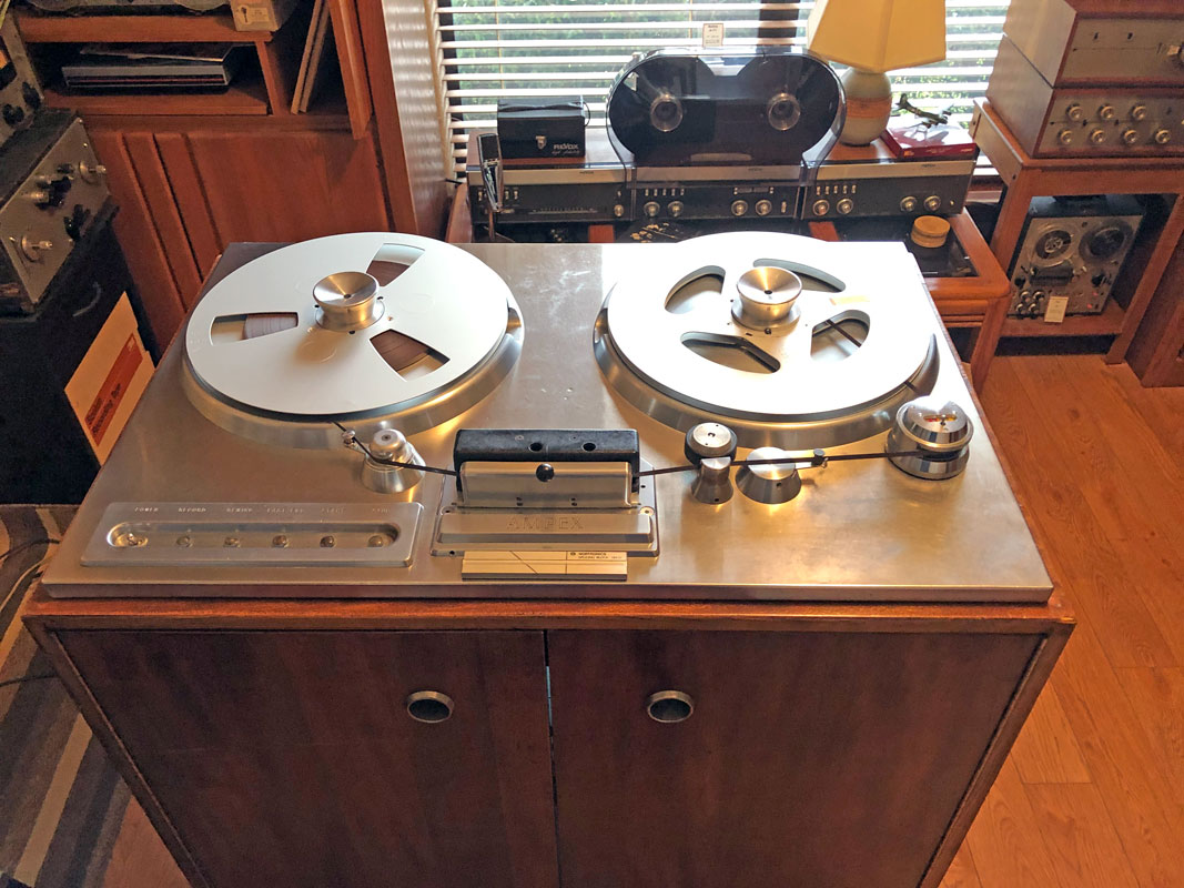 Ampex 200A #33 in Theophilus Collection/Museum of Magnetic Sound Recording and Reel2ReelTexas vintage reel tape recorder recording collection