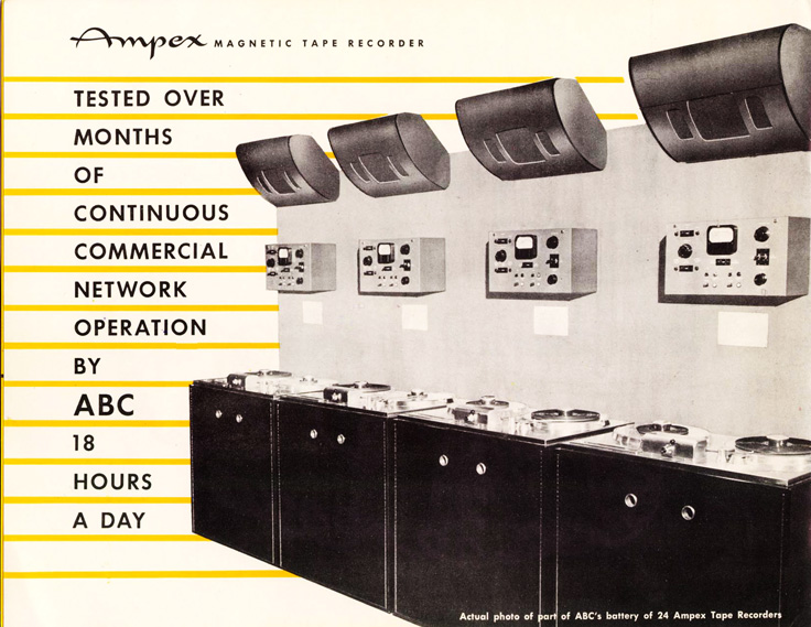Page 4 of the 1947-1948 Ampex 200 professional reel to reel tape recorder brochure in Phantom productions' vintage recording collection