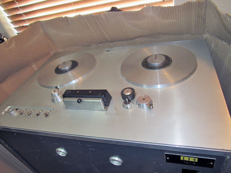 "Reel2ReelTexas.com's Ampex ""clone""  201 professional reel to reel tape recorder on display at the Phantom studio"