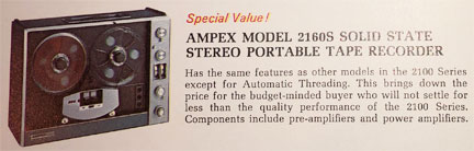 1970 ad for the Ampex 2100 reel to reel tape recorder in the Reel2ReelTexas.com vintage recording collection