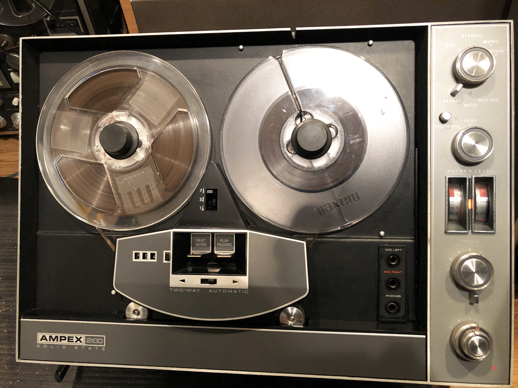 Ampex 2100 Solid state autoload reversing  reel to reel tape recorder in the Reel2ReelTexas.com vintage recording collection