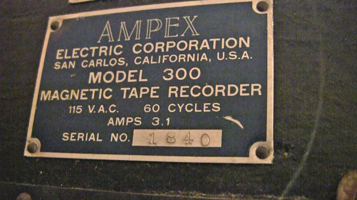 Ampex 300 reel tape recorder label in the Reel2ReelTexas.com vintage recording collection
