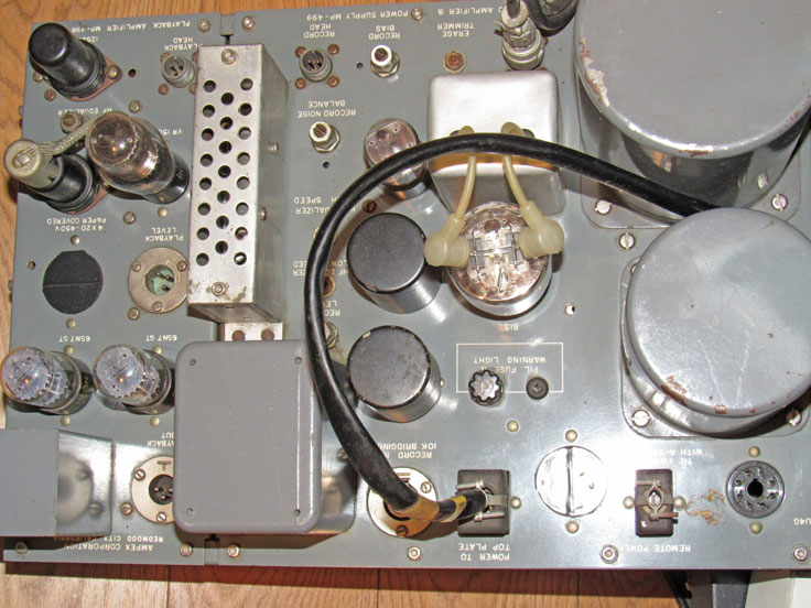 An original restored amplifier  for the Ampex 300 professional reel to reeel tape recorder in the Reel2ReelTexas.com vintage reel tape recorder recording collection