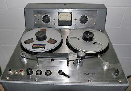 Ampex reel to reel tape recorder photo in the Reel2ReelTexas - Museumof Magnetic Sound Recording vintage tape recording collection