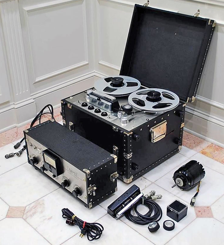 Ampex 351 Pro reel to reel tape recorders in road cases photo in the Reel2ReelTexas.com - Museum Of Magnetic Sound Recording vintage recording collection