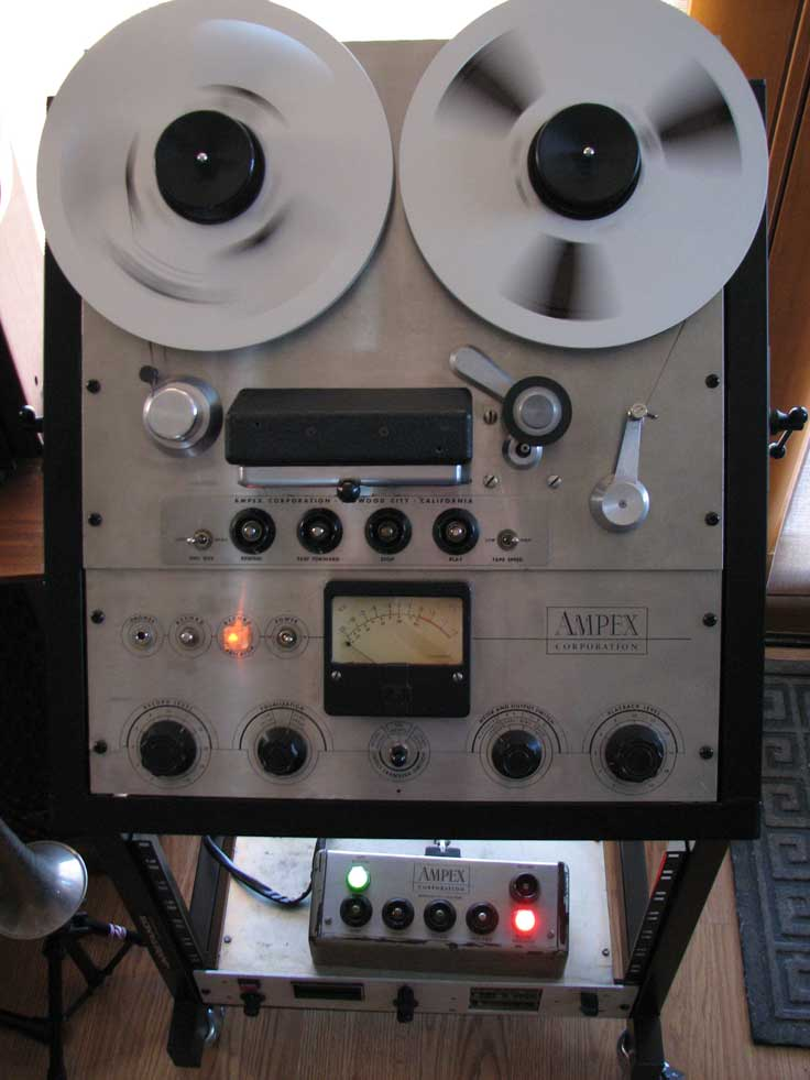 Ampex 351 professional reel to reel tape recorder in the Reel2ReelTexas.com vintage recording collection