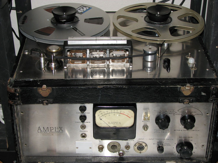 Ampex 400 professional reel to reel tape recorder in the Reel2ReelTexas.com vintage reel tape recorder recording collection