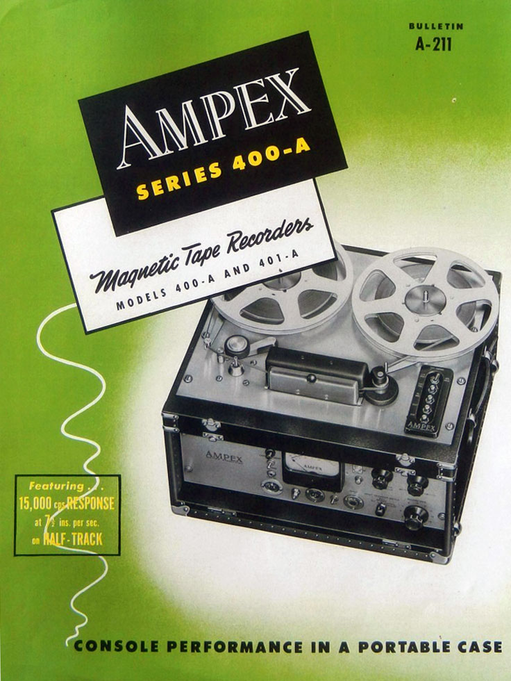 Ampex 401A pro reel to reel tape recorder used by the U.S. Army Signal Corp photo in the Reel2ReelTexas.com - Museum Of Magnetic Sound Recording vintage recording collection