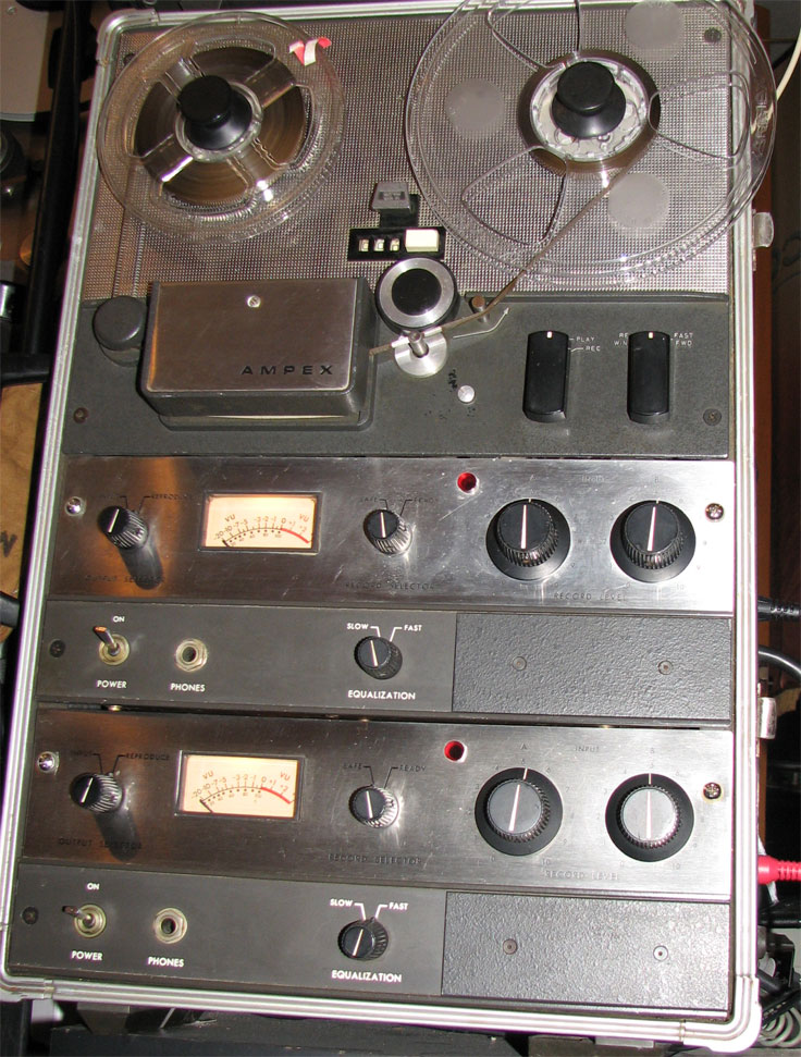 Ampex 600-2 Solid state  professional reel to reel tape recorder in the Reel2ReelTexas.com vintage recording collection