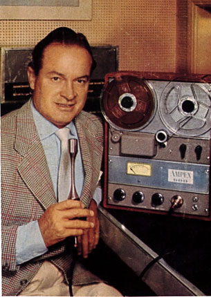 1954 ad with Bob Hope for the Ampex 600 reel tape recorder in the Reel2ReelTexas.com vintage reel tape recorder recording collection
