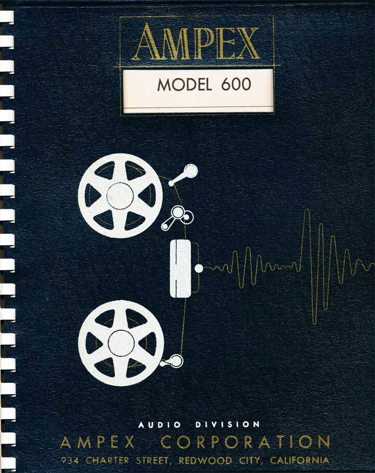 1954 manual for the Ampex 600 reel tape recorder in the Reel2ReelTexas.com vintage reel tape recorder recording collection
