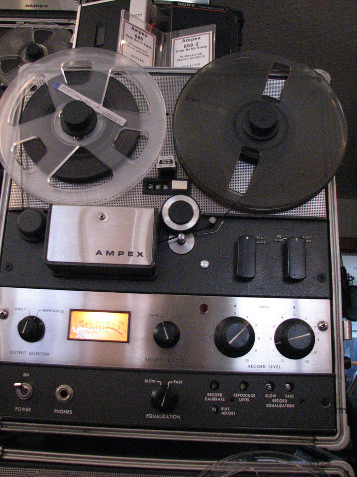 Ampex AG-600 Solid state professional reel to reel tape recorder in the Reel2ReelTexas.com vintage reel tape recorder recording collection