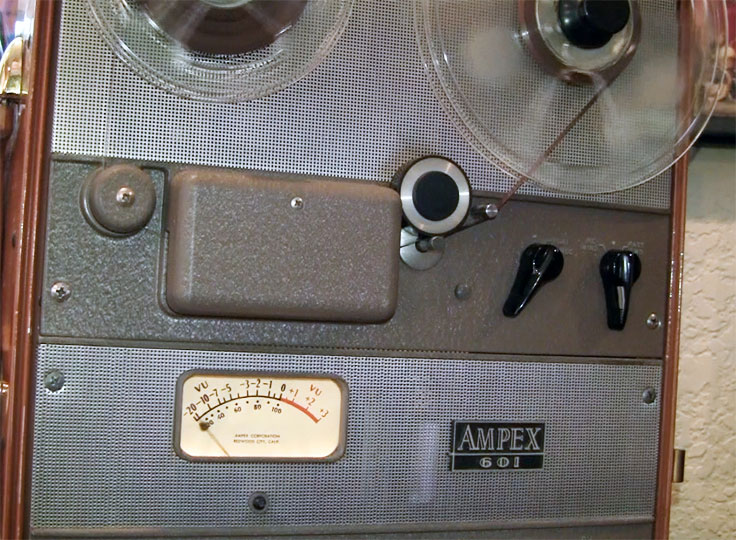 Ampex 601 reel to reel tape recorder in the Reel2ReelTexas.com vintage recording collection