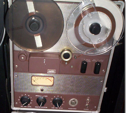 Ampex 602 professional reel to reel tape recorder in the Reel2ReelTexas.com vintage reel tape recorder recording collection
