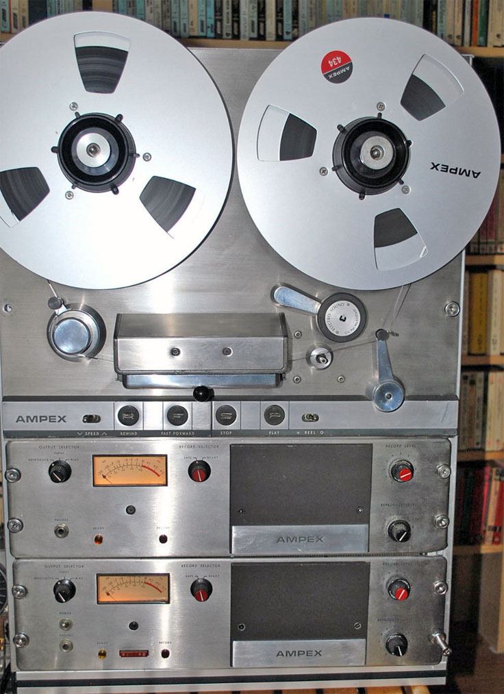 Ampex AG-350 pro reel to reel tape recorder photo in the Reel2ReelTexas.com - Museum Of Magnetic Sound Recording vintage recording collection