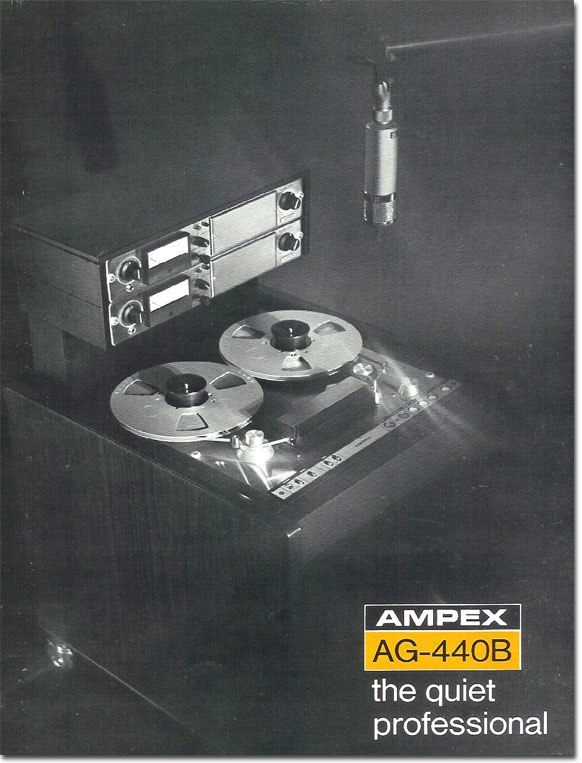 Ad for the Ampex AG-440 in the Reel2ReelTexas.com vintage collection