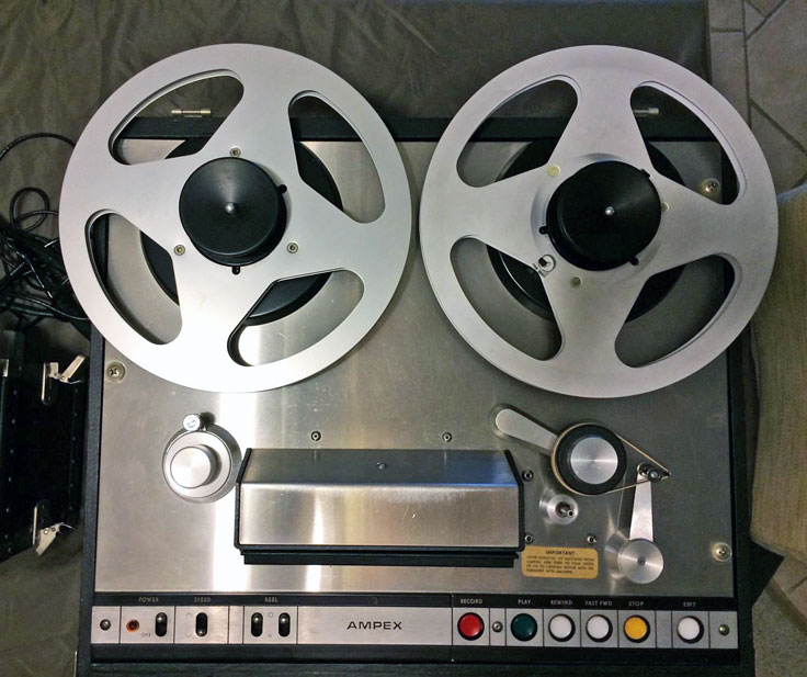 Ampex AG-440 445 pro reel to reel tape recorder photo in the Reel2ReelTexas.com - Museum Of Magnetic Sound Recording vintage recording collection
