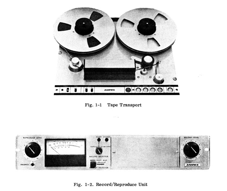Information about the Ampex AG-445B professional reel to reel tape recorder in the Reel2ReelTexas.com vintage reel tape recorder recording collection