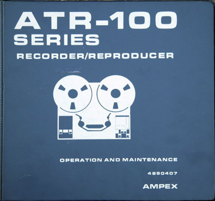 Ampex ATR-100 2 TrackFour Track pro reel to reel tape recorder photo in the Reel2ReelTexas.com - Museum Of Magnetic Sound Recording vintage recording collection
